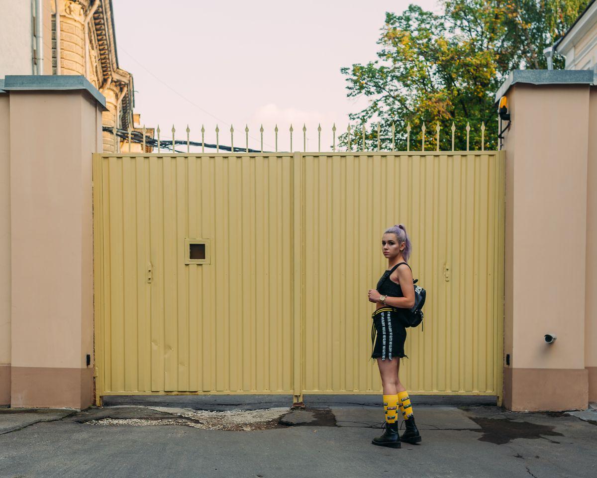 yellow женская фотосессия
